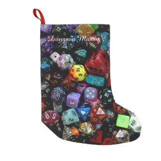 RPG Multi-sided Dice Small Christmas Stocking