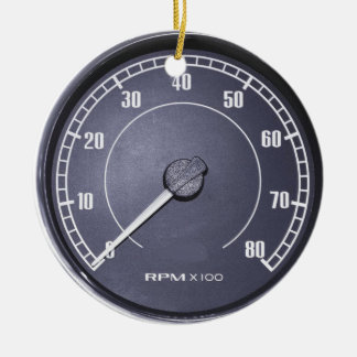 """""""RPM Gauge"""" design gifts and products Christmas Ornament"""