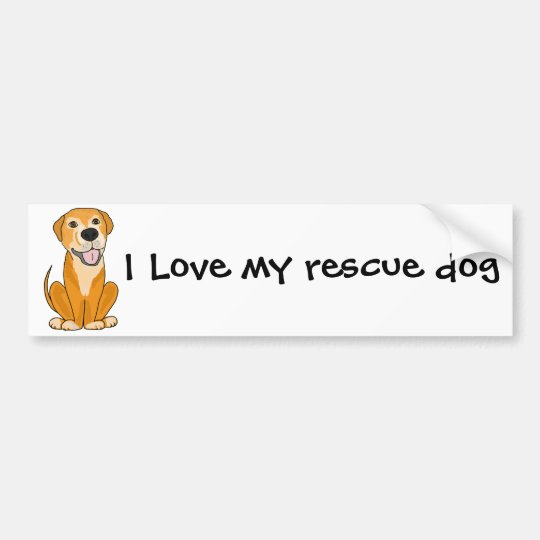 RR- Cute Funny Rescue Dog Puppy Cartoon Bumper