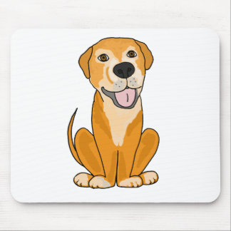 RR- Cute Funny Rescue Dog Puppy Cartoon Mouse Pad