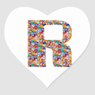 RRR  Jewelled Art for ALPHA R : Great Gifts Heart Sticker