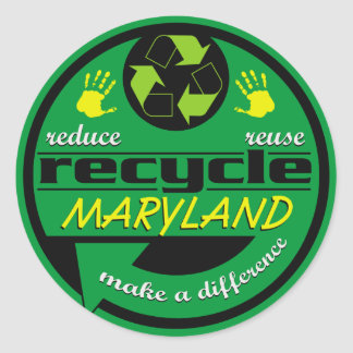 RRR Maryland Classic Round Sticker