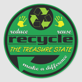 RRR The Treasure State Round Sticker