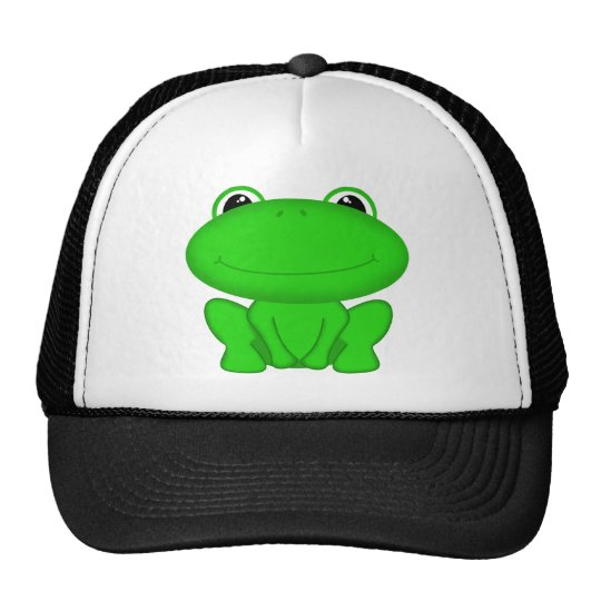 Rrrribbit! Green Froggie Cap