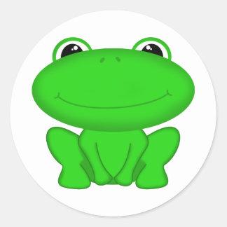 Rrrribbit! Green Froggie Round Sticker
