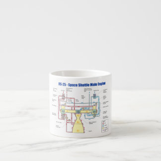 RS-25 Space Shuttle Main Engine Diagram Espresso Cup