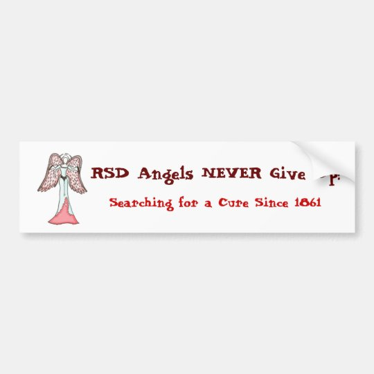 RSD Angels NEVER Give Up! Bumper Sticker
