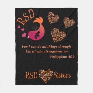 RSD Bird hearts Bible Verse Philippians 4:13 Fleece Blanket