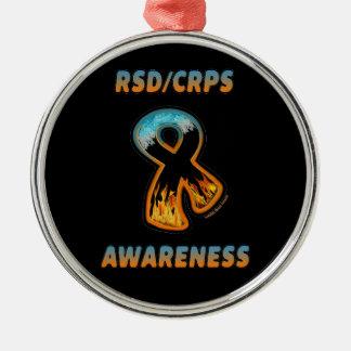 RSD/CRPS AWARENESS fire & ice ribbon Christmas Ornament