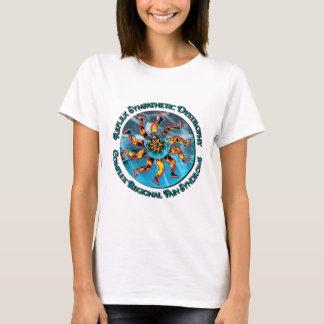RSD/CRPS Flaming Hand & Leg Starburst Lady-T T-Shirt