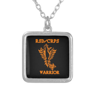 RSD/CRPS WARRIOR  phoenix Silver Plated Necklace