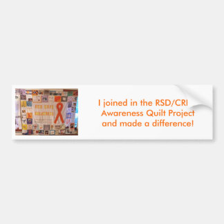 RSD Quilt1, I joined in the RSD/CRPS Awareness ... Car Bumper Sticker