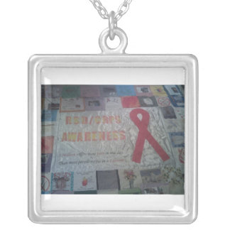 RSD quilt Silver Plated Necklace