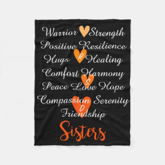 RSD Sisters Affirmations Blanket blk