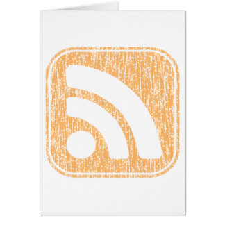 RSS Icon Button Weathered Design Greeting Cards