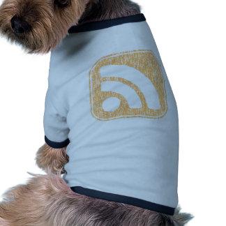 RSS Icon Button Weathered Design Doggie Tshirt