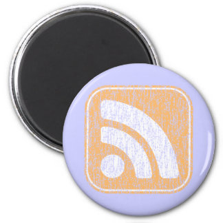 RSS Icon Button Weathered Design Refrigerator Magnets