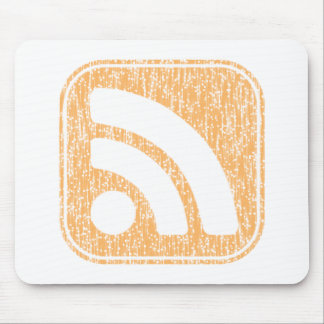 RSS Icon Button Weathered Design Mouse Pad