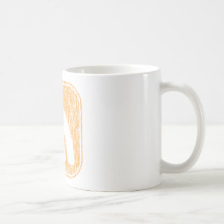 RSS Icon Button Weathered Design Coffee Mugs