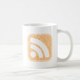 RSS Icon Button Weathered Design Mug