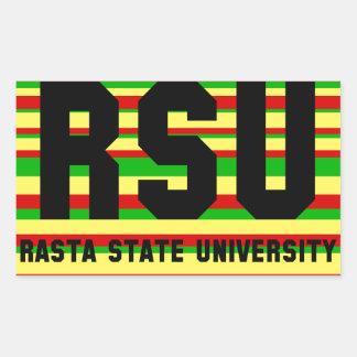 RSU: Rasta State University Rectangular Sticker