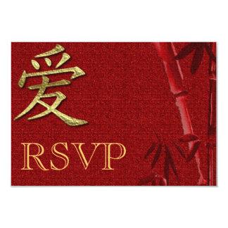 "RSVP Asian Wedding invitation Announcement 3.5"" X 5"" Invitation Card"