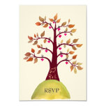 RSVP Autumn/Fall Heart Tree Carving Wedding Cards