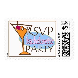RSVP BAchelorette Party Postage Stamp