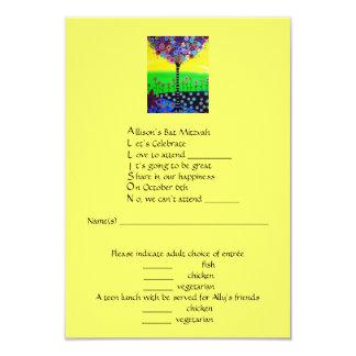 RSVP Bat Mitzvah- Allison Card