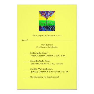 RSVP Bat Mitzvah for Ally 9 Cm X 13 Cm Invitation Card