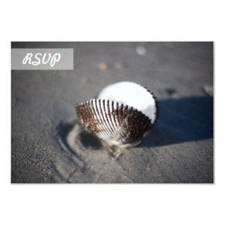 RSVP Beach Theme Sea Shell Cards 9 Cm X 13 Cm Invitation Card