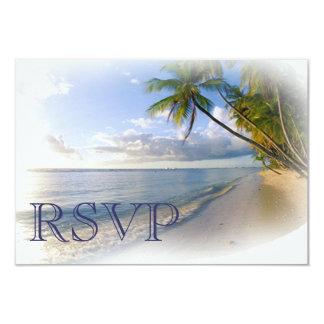 RSVP Beach Wedding invitation Announcement