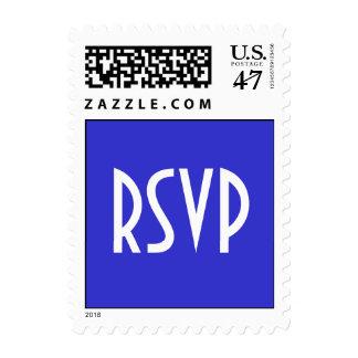RSVP Blue Postage