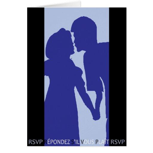 RSVP Blue Shadow Card