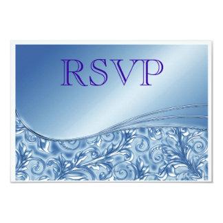 RSVP Blue Wedding invitation Announcement