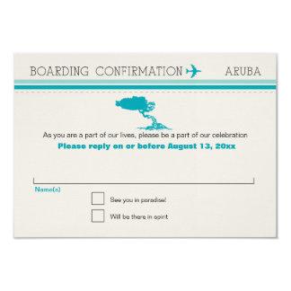 RSVP Boarding Pass TO Aruba Card