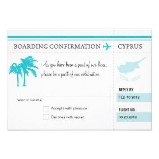 RSVP Boarding Pass TO Hawaii Invitations