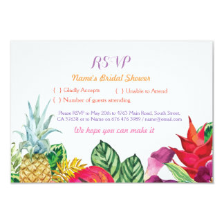 RSVP Bridal Shower Aloha Tropical Cards Luau