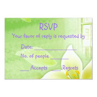 RSVP card 9 Cm X 13 Cm Invitation Card