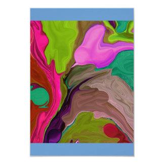 rsvp card abstract art