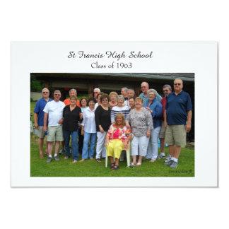 RSVP card for Class Reunion 9 Cm X 13 Cm Invitation Card