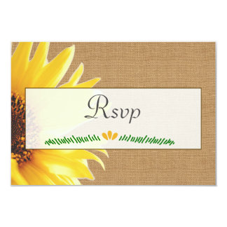 RSVP Card for Sunflower Invitations