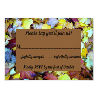 RSVP card for the Fall Leaves Collection