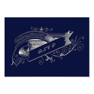 RSVP CARD MATCHING NAVY BLUE INVITATION