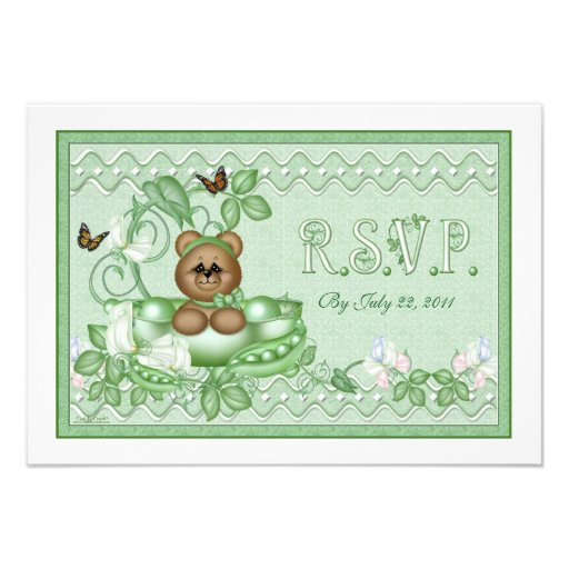 RSVP Card  Pea Pod Baby Custom Invites