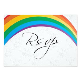 RSVP Card Rainbow Gay Wedding 9 Cm X 13 Cm Invitation Card