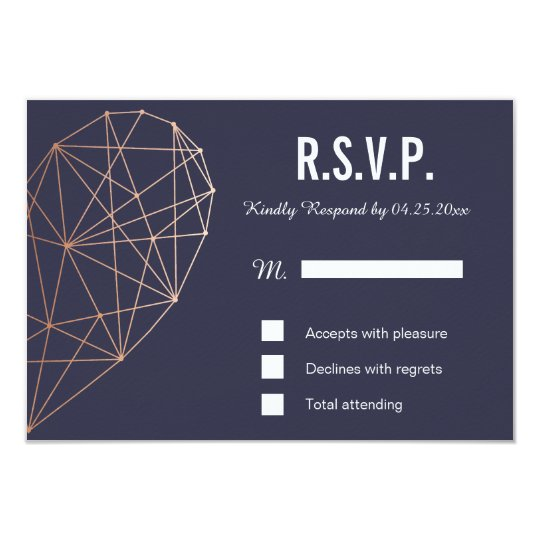 RSVP card | Response | Wedding Geometric Rose
