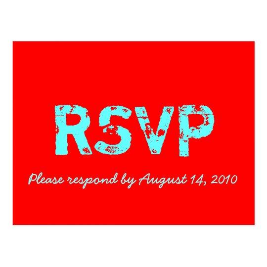 RSVP Card Retro