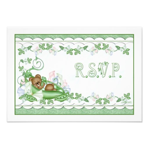 RSVP Card Sweet Pea in a Pod Invitation