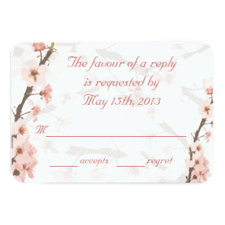 RSVP card to match my Cherry Blossom Invites